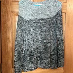 Multi-Color Black Sweater.